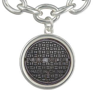 New York City Sewer Cover Photo Charm Bracelet