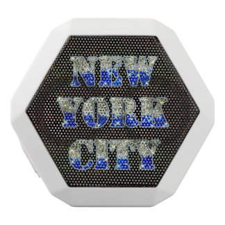 New York City Silver Blue Glitters
