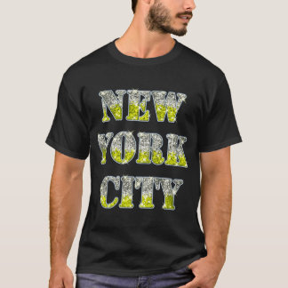 New York City Silver Gold Glitters T-Shirt
