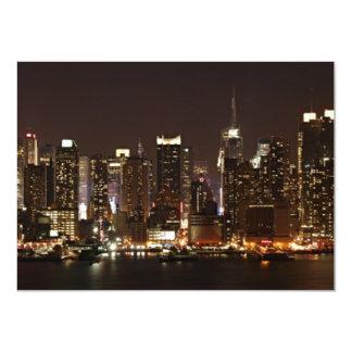 New York City Skyline 11 Cm X 16 Cm Invitation Card