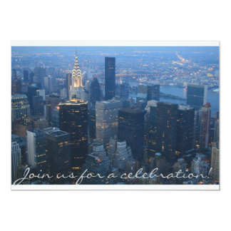 New York City Skyline 13 Cm X 18 Cm Invitation Card