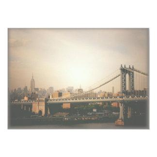 New York City Skyline and Manhattan Bridge Invite