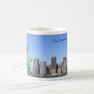 New York City Skyline and The Statue of Liberty Coffee Mug