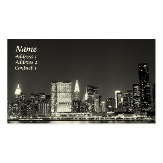 New York City Skyline at Night , Lower Manhattan Business Card