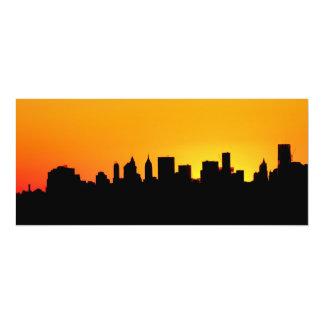 New York City Skyline at Sunset , Manhattan Card