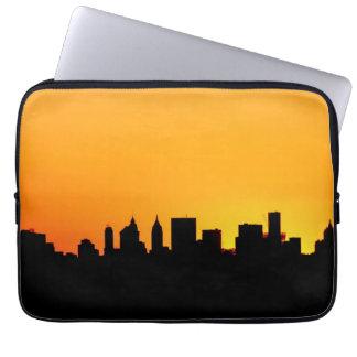 New York City Skyline at Sunset , Manhattan Laptop Sleeve