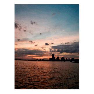 New York City Skyline at Sunset Post Card