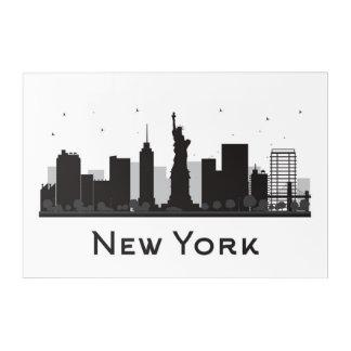 New York City | Skyline Black and White Acrylic Wall Art