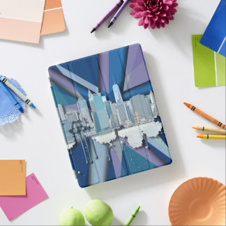 New York City Skyline | Blue 3D iPad Cover