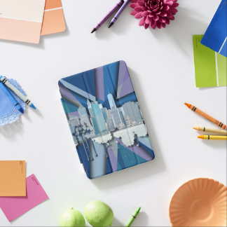 New York City Skyline | Blue 3D iPad Mini Cover