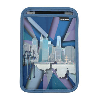 New York City Skyline | Blue 3D iPad Mini Sleeve