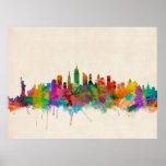 New York City Skyline Cityscape Print