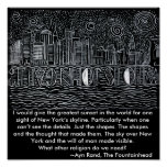New York City Skyline Crying Out Who Is John Galt? Posters