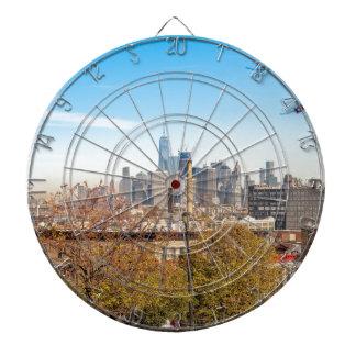 New York City Skyline Dartboard