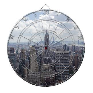 New York City Skyline Empire State Building NYC Dartboard