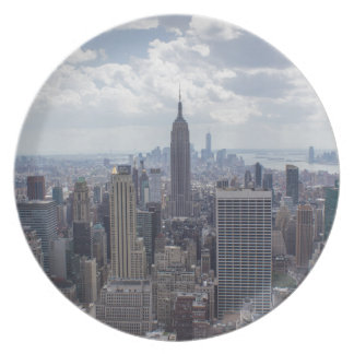 New York City Skyline Empire State Building NYC Dinner Plate