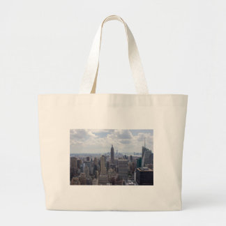 New York City Skyline Empire State Building NYC Large Tote Bag