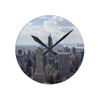 New York City Skyline Empire State Building NYC Round Clock