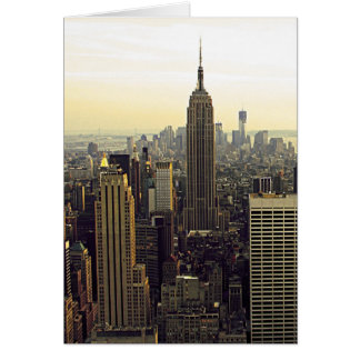 New York City Skyline from Midtown to Downtown Card
