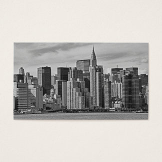 City skyline business cards business card printing zazzle new york city skyline from the east river bampw business card reheart Images