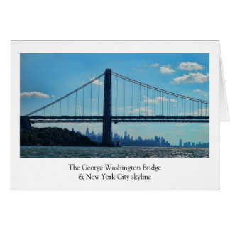 New York City skyline, George Washington Bridge Card