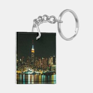 NEW YORK CITY SKYLINE Double-Sided SQUARE ACRYLIC KEY RING