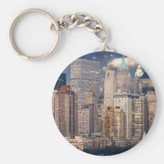 New York City Skyline Basic Round Button Keychain