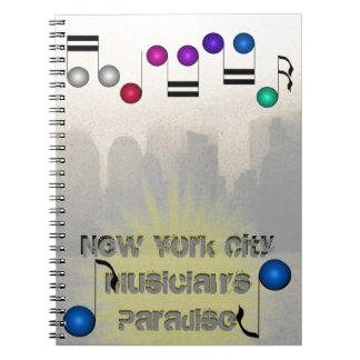 New York City Skyline NYC Music Musicians Books