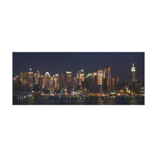 New York City Skyline Panorama Gallery Wrapped Canvas