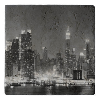 New-York City Skyline Panoramic View Trivet