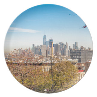 New York City Skyline Party Plate