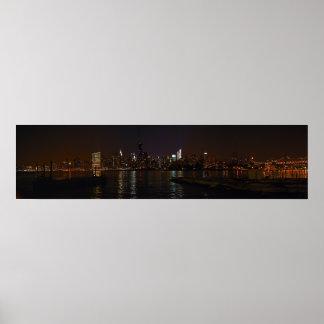 New York City skyline photo poster