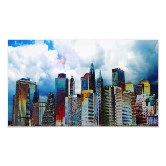 New York City skyline Photo Print