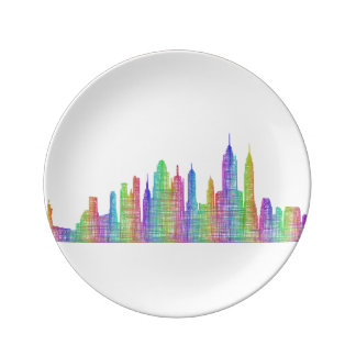 New York City skyline Porcelain Plate