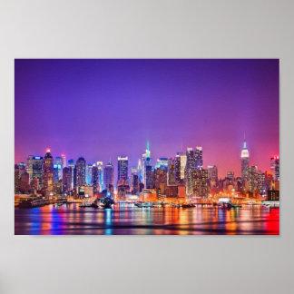 New York City Skyline Poster (Color)