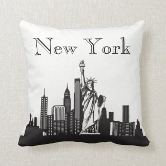 New York City Skyline Silhouette Front/ Xray Back Cushion