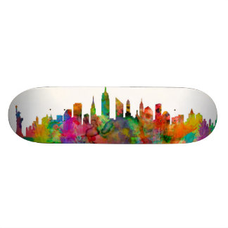 New York City Skyline Skateboard