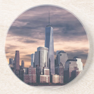New York City Skyline Winter Drink Coaster