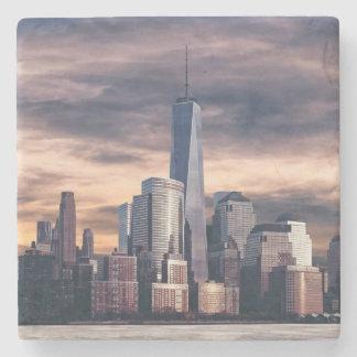 New York City Skyline Winter Stone Coaster