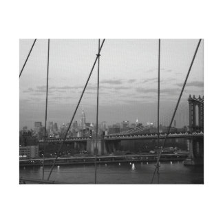 New York City skyline - wrapped canvas Stretched Canvas Print