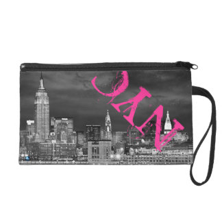 New York City Skyline Wristlet Bag