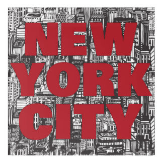 New York City | Skyscraper Typography Acrylic Wall Art