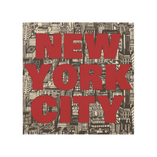 New York City | Skyscraper Typography Wood Wall Art