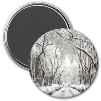 New York City Snowy Winter Streets Magnet