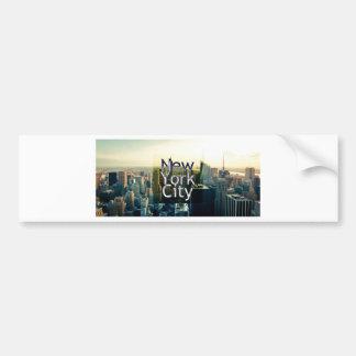 New York City Souvenir Bumper Sticker
