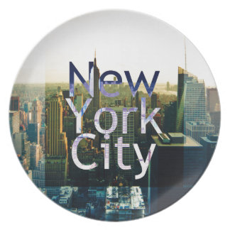 New York City Souvenir Dinner Plates