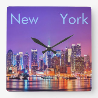 New York City Square Wall Clock