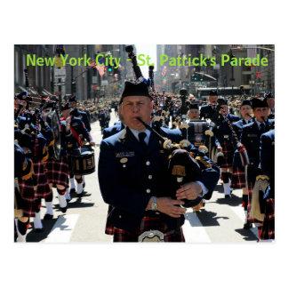 New York City St Patrick's Parade post card