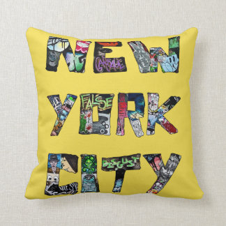 New York City Street Art Throw Cushion