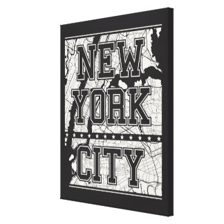 New York City | Street Map Canvas Print